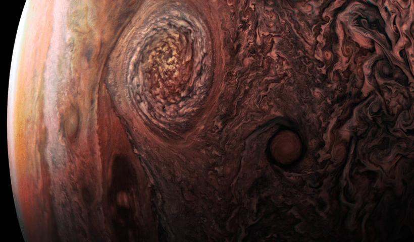 Jupiteris. NASA / JPL-Caltech / SwRI / MSSS / Roman Tkachenko nuotr.