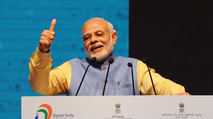 In the area of skill building, which is a significant focus area of the Prime Minister, access to mobile phones, largely a consumption device, has been made easier, whereas the same incentives have not been extended to the other screen devices that actually enable skill building. (Photo/PIB)