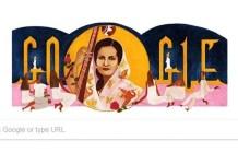 Begum Akhtar, Queen of Ghazals, Queen of Ghazals, Begum Akhtar, Google Doodle celebrates Begum Akhtar, Google Doodle, Google Doodle celebrates, Akhtari Bai Faizabadi, Google Begum Akhtar, Beghum Akhtar, Google Doodle and Begum Akhtar