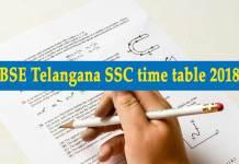BSE Telangana SSC time table 2018, Telangana SSC, SSC Exam, Telangana SSC Exam 2018, Telangana SSC 2018, OSSC 2018, SSC Vocational Exam 2018