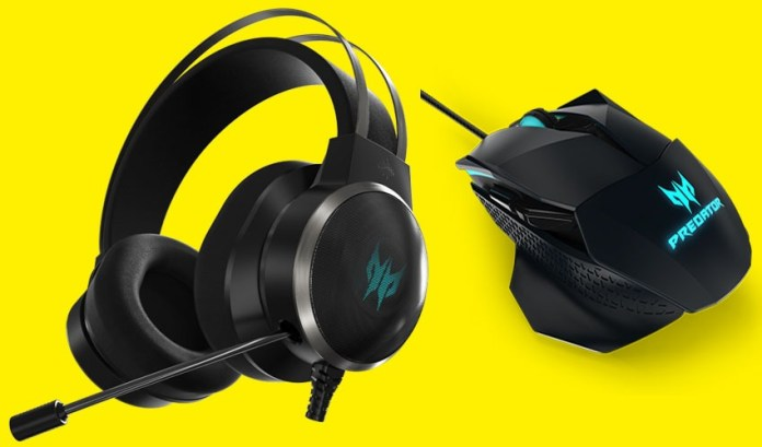 Acer Galea 500 Gaming Headset, Acer Galea 500 Gaming Mouse, Acer, Acer Predator, Laptop