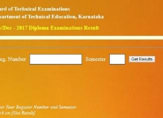 Karnataka, Education, DTE Karnataka, DTE Diploma Results, bteresults.net