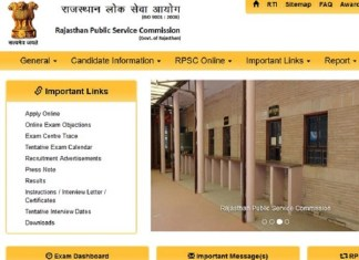 Rajasthan Public Service Commission, RPSC