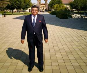 Union IT Minister Ravi Shankar Prasad visited Stanford University. (Photo/Twitter/@rsprasad)