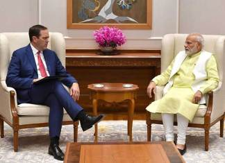 Cisco CEO and Chairman Chuck Robbins with Prime Minister Narendra Modi in New Delhi. (Photo: PIB)