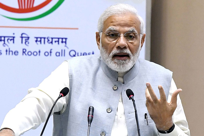 The Prime Minister Narendra Modi inaugurated the Conference on Academic Leadership on Education for Resurgence in Vigyan Bhawan in which the Vice-Chancellors, Directors from more than 350 universities participated.