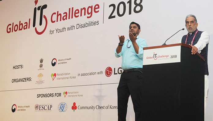 As many as 100 youths with disabilities from 18 countries have participated in the Global IT Challenge for Youth with Disabilities, 2018