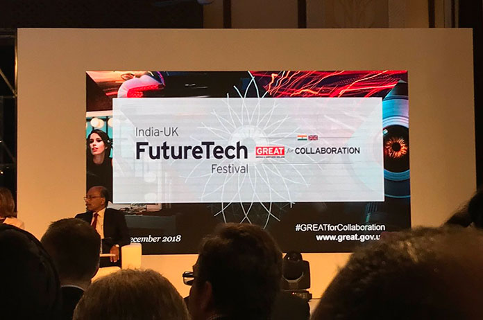 The UK and India co-hosted technology festival at the Imperial Hotel, New Delhi.