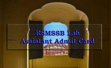RSMSSB Lab Assistant Admit Card 2019, RSMSSB, Lab Assistant Admit Card, recruitment.rajasthan.gov.in