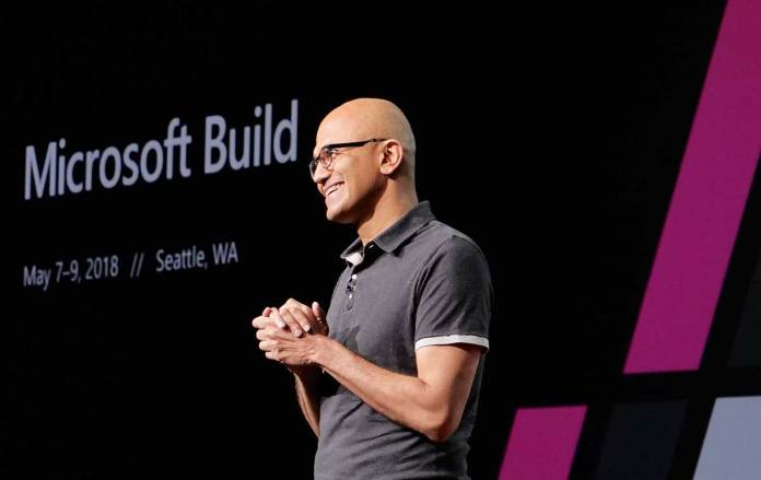 Microsoft CEO Satya Nadella at the last year Microsoft Build conference in Seattle. (Photo: File)