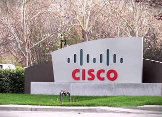 Cisco building, Cisco logo
