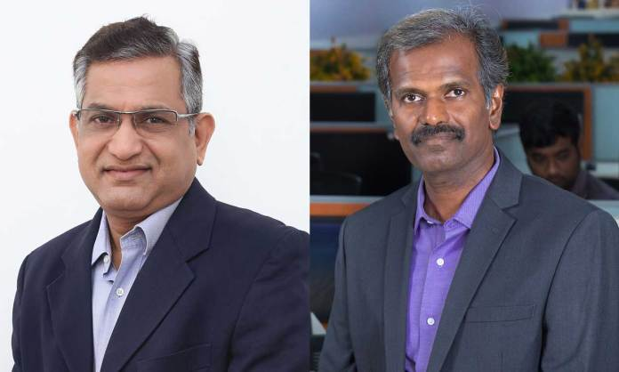Balakrishnan Anantharaman, managing director, sales, India and SAARC, Nutanix and Sendil Kumar Venkatesan, Chief Technology Officer, Shriram Capital (Photo: File)