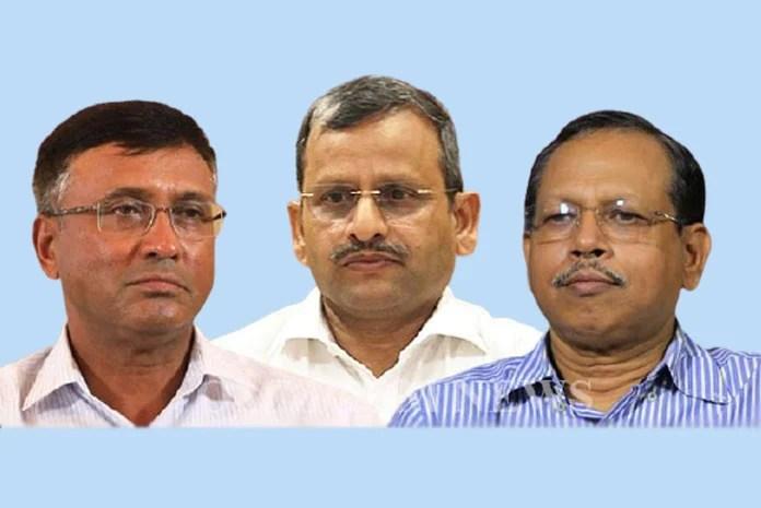 Asit Kumar Tripathy, Suresh Chandra Mohapatra and Pradeep Kumar Jena. (Photo: File)