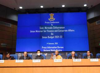 The Union Minister for Finance and Corporate Affairs, Nirmala Sitharaman addressing a Post Budget Press Conference, in New Delhi. (Photo: PIB)