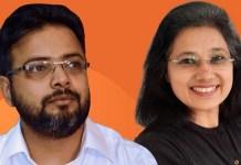 L to R - Tarun Bhalla, Co-founder and CEO & Pooja Goyal, Co-founder and COO, Avishkaar