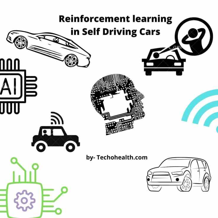 example of Reinforcement learning in Self Driving Cars by techohealth.com