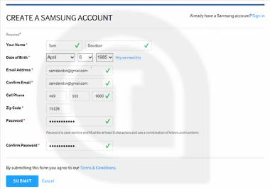 How to Create a Samsung Account to Use Samsung Apps
