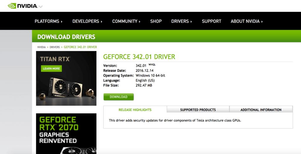 GEFORECE 342.01 Driver 1024x526