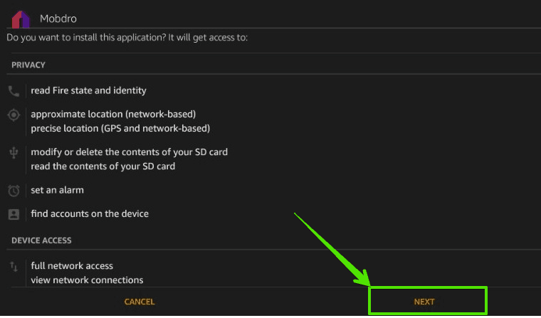 Install Mobdro on Firestick