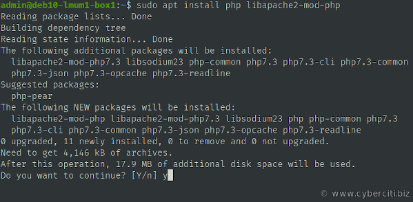 PHP install LAMP on Debian 10 (Buster)