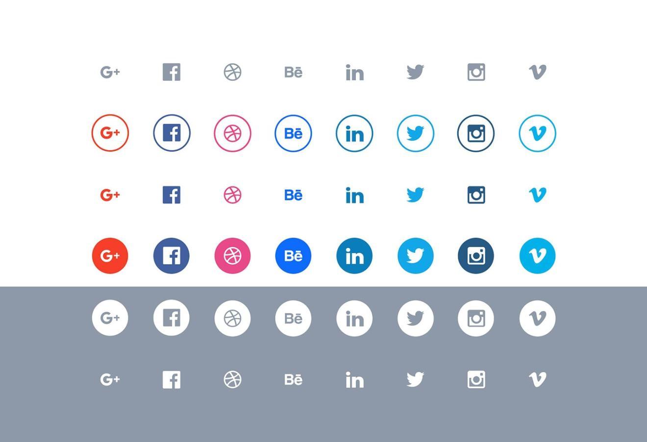 simple-minimal-free-social-icons