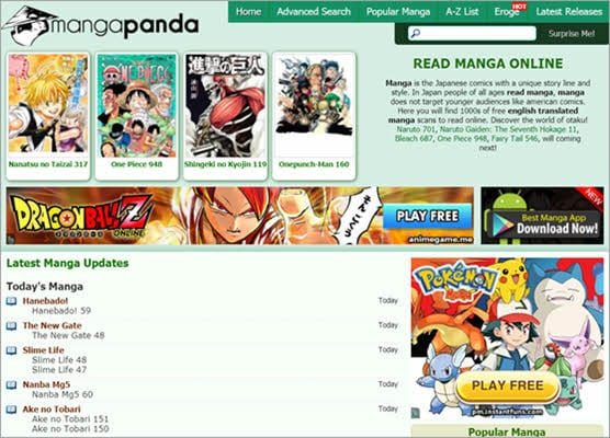 When you search for Manga Panda, you will enter a huge library of thousands of manga comics translated in English.
