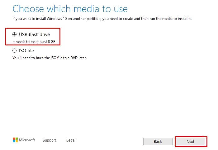 install windows 10 from a flash drive
