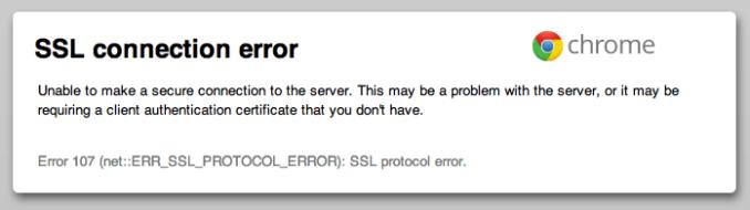 Image result for SSL connection error
