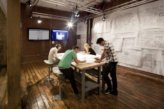 Members of Quirky's design team work at the company's Manhattan office.