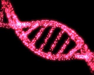 DNA helix image via Shutterstock