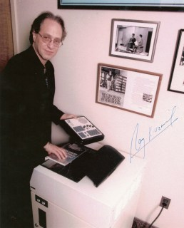Ray Kurzweil with his reading synthesizer.