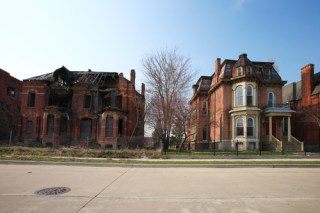 Lost glory: decaying mansions in Detroit's Brush Park (image via Shutterstock)