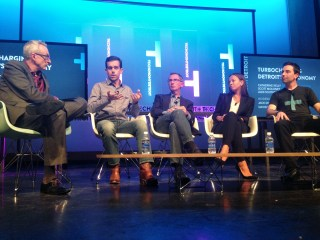 From left, David Kirkpatrick, Jack Dorsey, Scott Moloney, Catherine Kelly, and Alex Southern (photo by Asa Mathat)