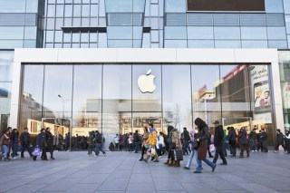 The Apple store in Beijing. (Image via Shutterstock)