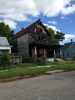Detroit burnt out house