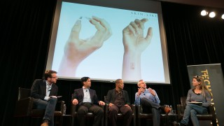 MC10 CEO Dave Icke discusses his company's Biostamp technology at last year's Techonomy IOE Lab.