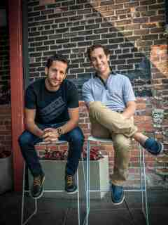 Chalkfly co-founders Ryan (left) and Andrew Landau