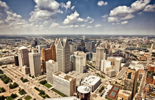 Thanks in part to Venture for America, downtown Detroit has become a hotbed of startup culture. (Image via Shutterstock)