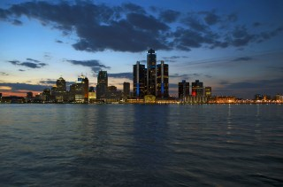 The Detroit skyline. (Image via Shutterstock)