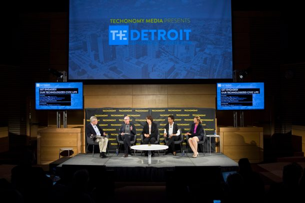 This session on Technologized Civic Life at Techonomy Detroit 2015 was moderated by the Atlantic's Jim Fallows.