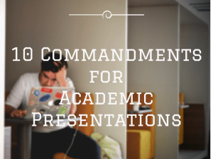 10 Presentations Tips for Academic Projects