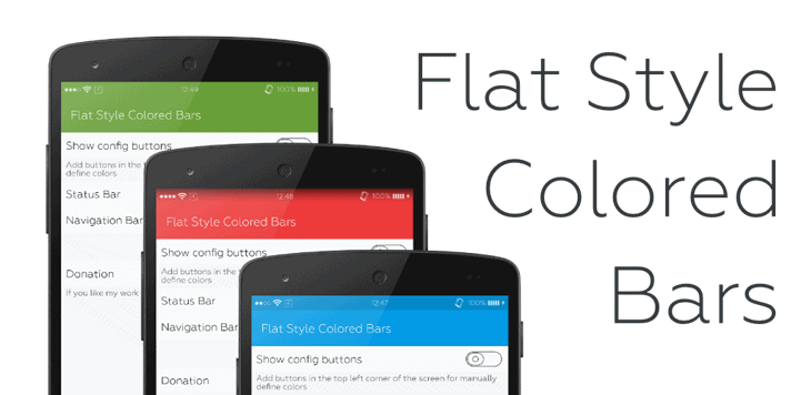 Flat Style Colores Bar Xposed Module
