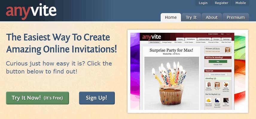 Anyvite - Best Evite Alternative 2020