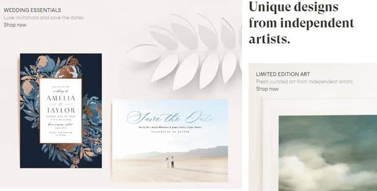 Minted Online Invitation Card Service