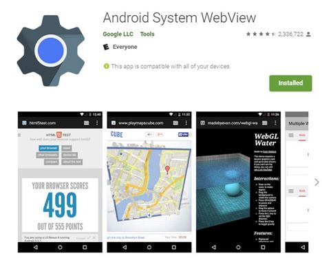 How to Install & Enable Android System Webview