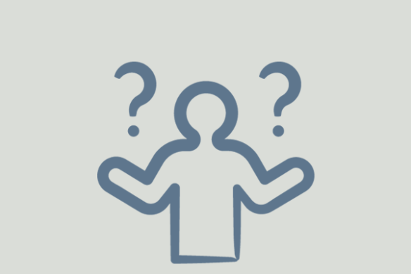 icon of stick figure and question marks