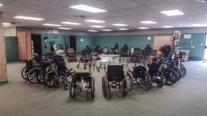 various wheelchair and walkers