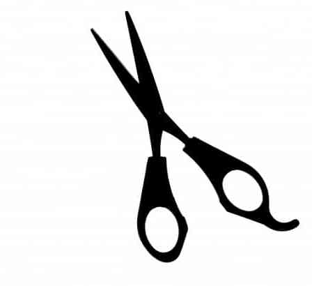 Silhouette of a pair of scissors