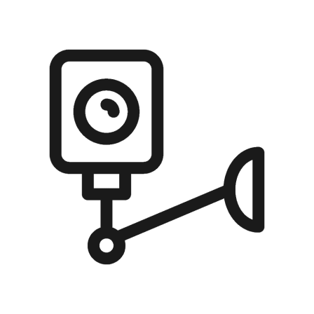 Wall-mounted security camera