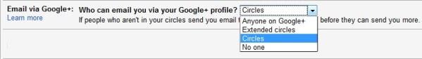 Gmail Settings Email via Google Plus